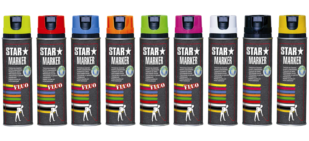 Farba do znakowania geodezyjno-budowlana STAR MARKER