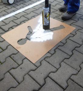 pochoirs pour signalisation au sol