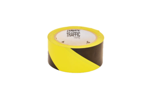 Floor marking tape yellow black Serie 1